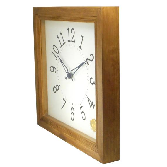 Kanbatsu 4 kaku wall clock 檜_04