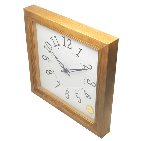 Kanbatsu 4 kaku wall clock Hinoki_07