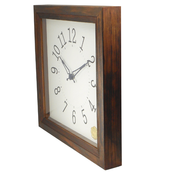 Kanbatsu 4 kaku wall clock 檜_03