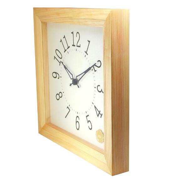 Kanbatsu 4 kaku wall clock Hinoki_02