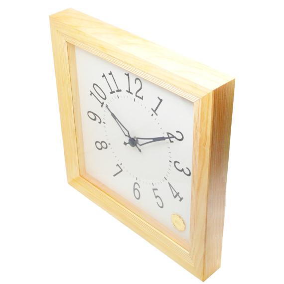 Kanbatsu 4 kaku wall clock Hinoki_05