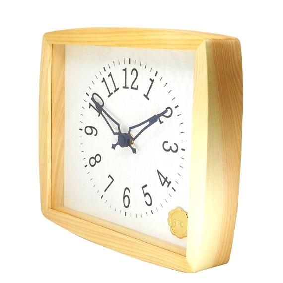 Kanbatsu 4 kaku (r) wall clock 檜_02