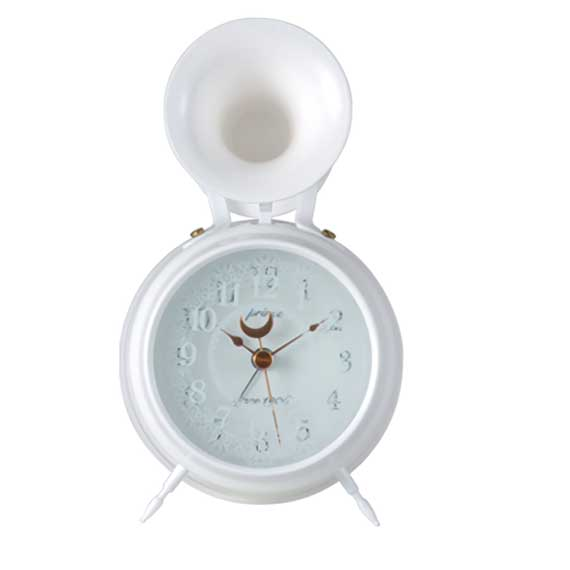 Bugle Clock (lace)White_01