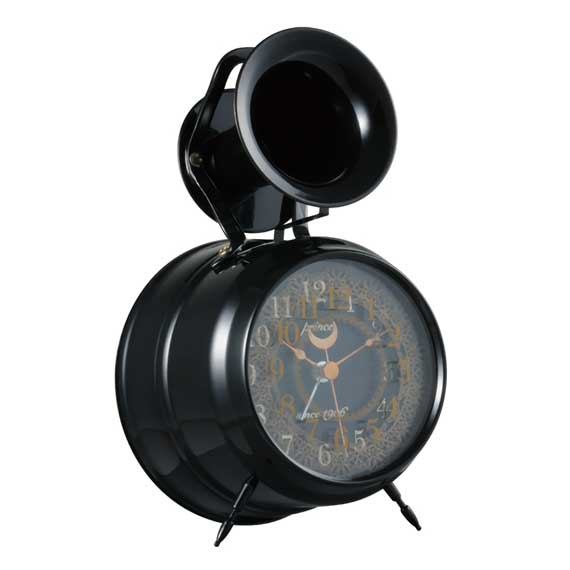 Bugle Clock (lace) Black_03