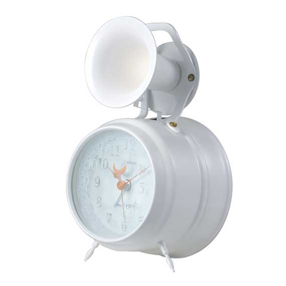 Bugle Clock (lace)White_04