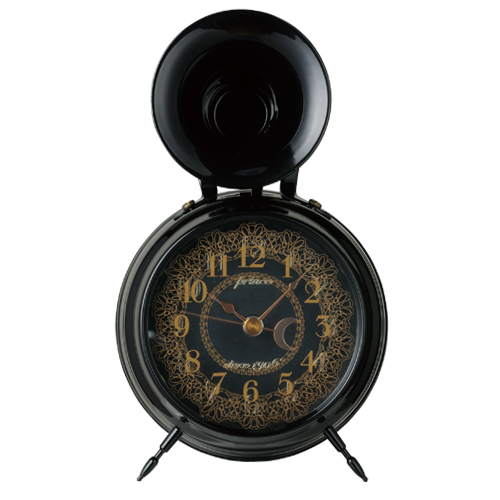 Bugle Clock (lace) Black_01
