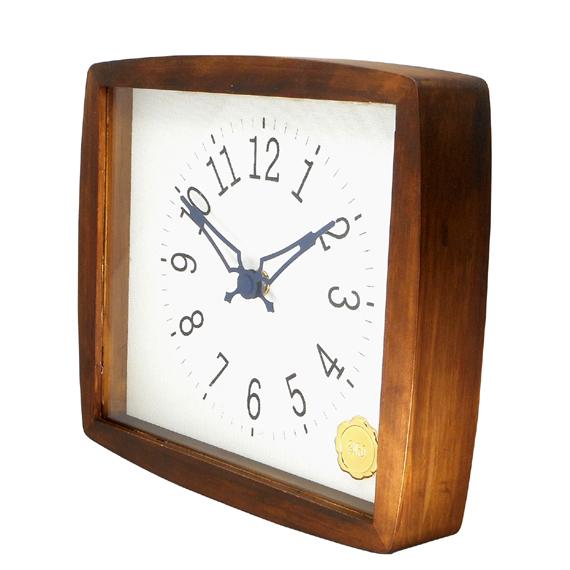 Kanbatsu 4 kaku (r) wall clock 檜_03