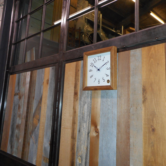 Kanbatsu 4 kaku wall clock Hinoki_09