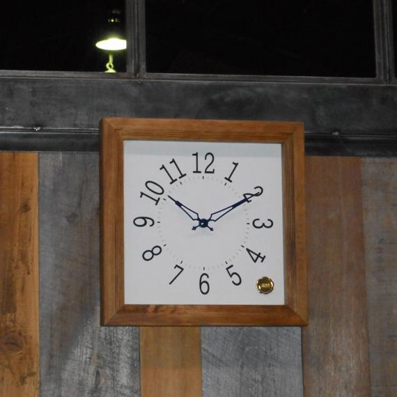 Kanbatsu 4 kaku wall clock 檜_08