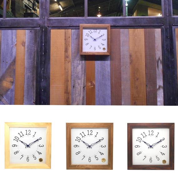 Kanbatsu 4 kaku wall clock 檜_01